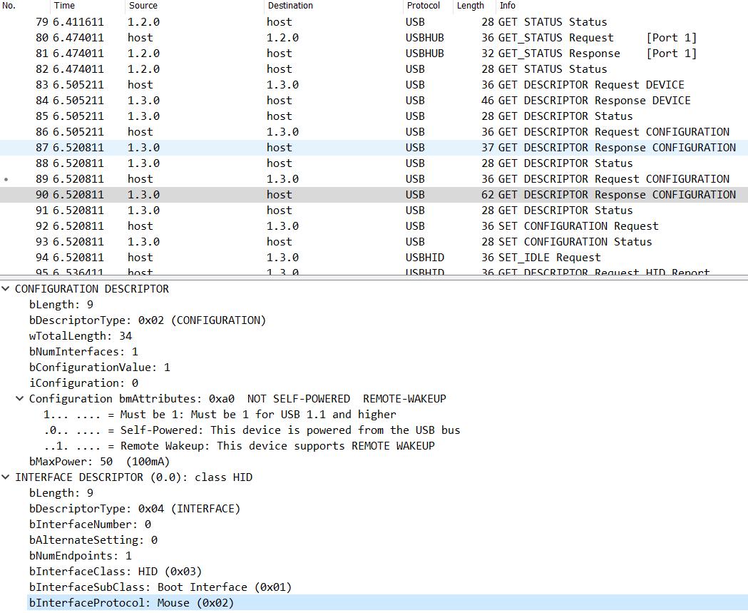 Wireshark - configuration messages